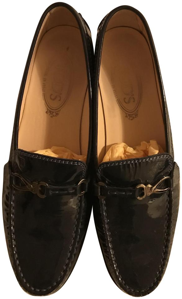 c19003db051 Tod s Navy Patent Leather Loafer Driving Flats Size EU 39 (Approx ...