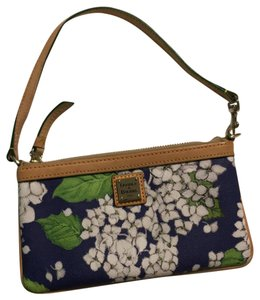 Dooney & Bourke Wristlet in floral blue/green