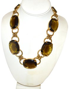 R.J. Graziano R. J. Graziano Smokey Quartz Color Crystal Statement Necklace