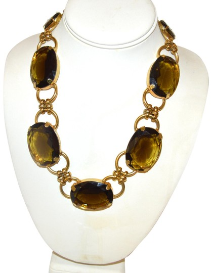 Preload https://img-static.tradesy.com/item/2288662/rj-graziano-goldtone-smokey-quartz-color-crystal-statement-necklace-0-3-540-540.jpg