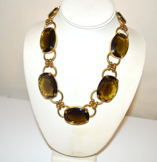 R.J. Graziano R. J. Graziano Smokey Quartz Color Crystal Statement Necklace Image 1