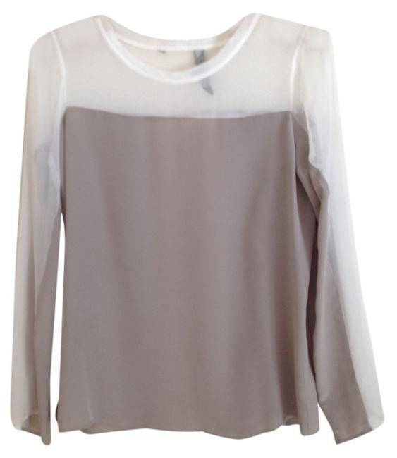 Preload https://item4.tradesy.com/images/waverly-grey-taupewhite-sheer-no-blouse-size-6-s-2288678-0-0.jpg?width=400&height=650