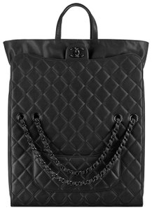 Chanel Special Classic Large Quilted Tote in black