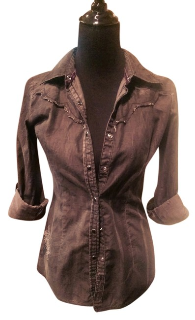 Roar Button Down Shirt Charcoal Gray Image 0