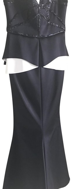 Item - Black & White Gown Strapless Long Formal Dress Size 8 (M)
