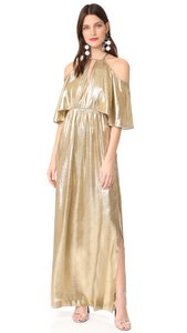Gold Maxi Dress by Rachel Zoe Victoria Beckham Tibi Zimmermann Lela Rose Elizabeth James