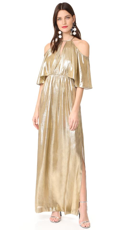 0be3ee06e3 Gold Maxi Dress by Rachel Zoe Victoria Beckham Tibi Zimmermann Lela Rose  Elizabeth James Image 0 ...