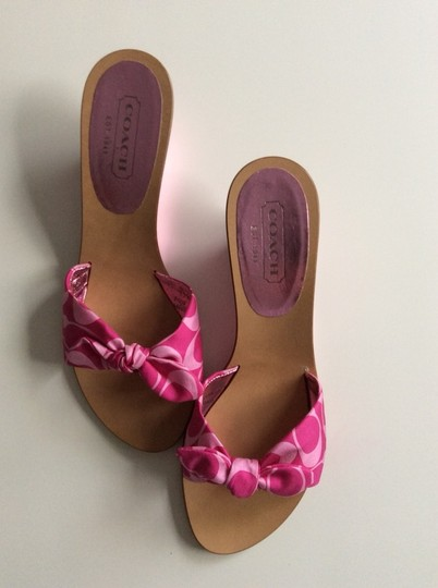 Coach Pink, Hot Pink, Metallic Sandals