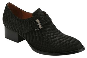 Jeffrey Campbell Oxford Leather Black Flats