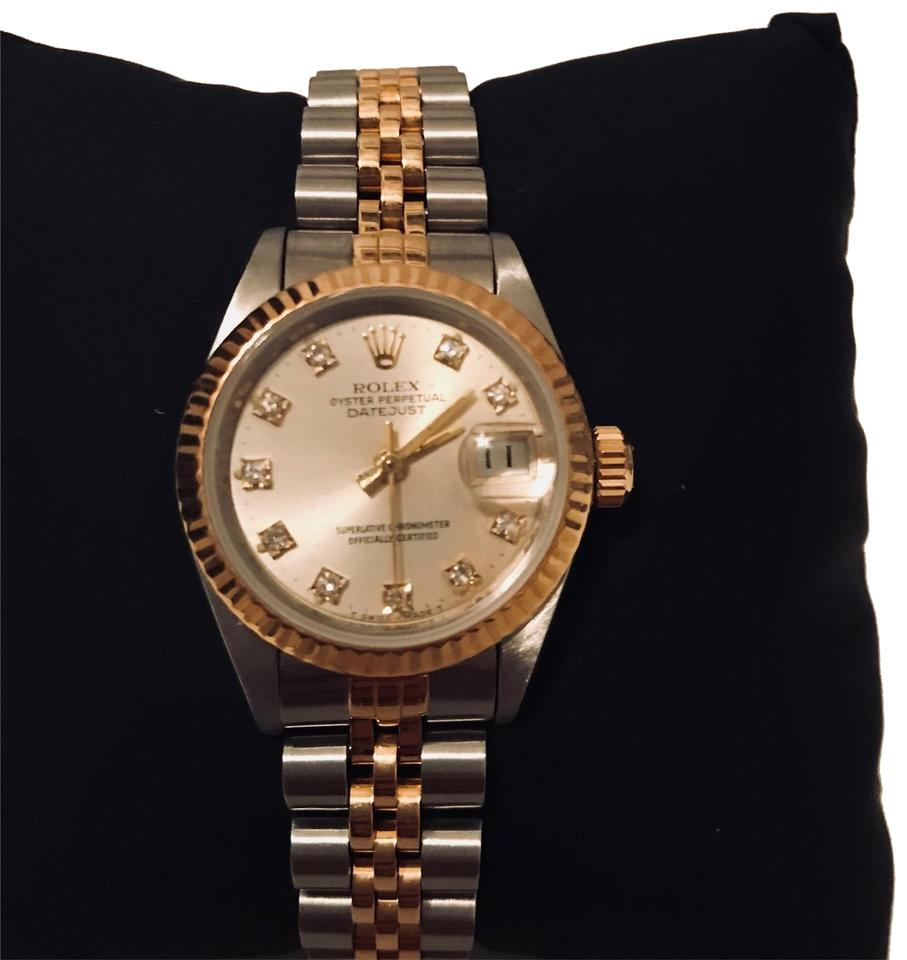 Rolex 18k Gold and Stainless Steel Vintage 1976 Oyster Perpetual ... f2879c6985c2
