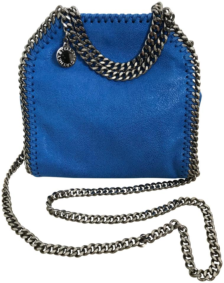 Stella McCartney Tiny Falabella Shaggy Deer Handbag Blue Faux Leather Cross  Body Bag 3f4a6ea5c1883