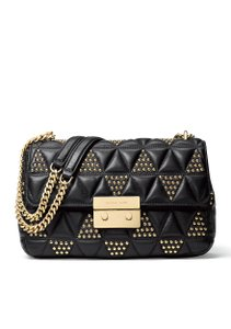 Michael Kors Chain Medium Sloan Gold Leather Quilted Style Id: 30h7gsll3i Shoulder Bag