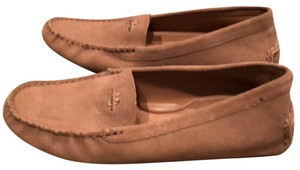 Coach Camel Amber Suede Driving Loafer Flats Flats