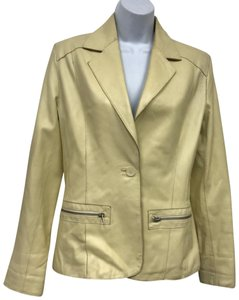 Pasha & Jo Yellow Leather Jacket