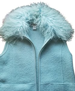 Lisa International Mongolian Lamb Wool Zipper Vest