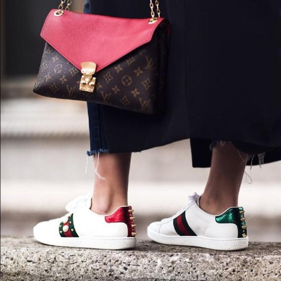 35fedaedf6e Gucci Sneaker New Ace Pearl Snekaer Size 37 white Athletic Image 11.  123456789101112