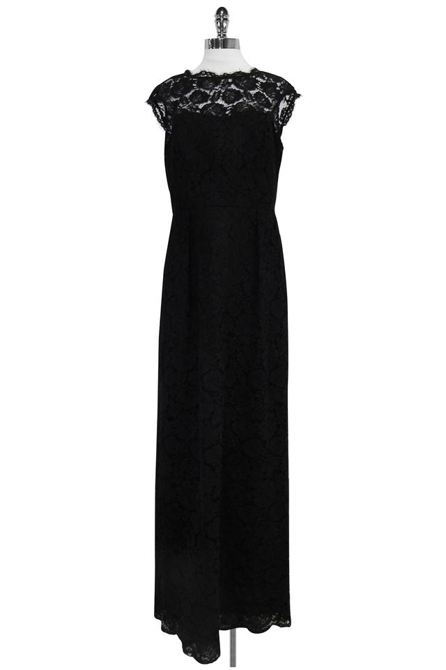 Shoshanna Black Lace Gown Long Formal Dress Size 12 (L) - Tradesy