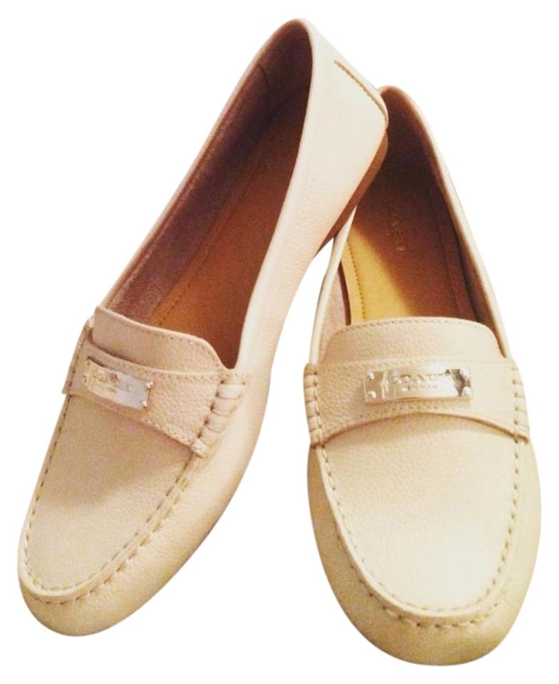 958fd49fc85 Coach Milk Fredrica Pebbled Womens Leather Moccasins Loafers Flats ...