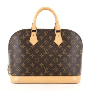Louis Vuitton Vintage Alma Satchel in Brown