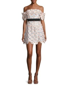 self-portrait Lace 3d Off The Shoulder Dress