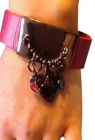 Guess Guess Leather Bracelet With Dangle Charms