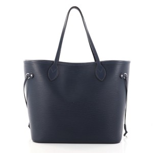Louis Vuitton Neverfull Epi Leather Tote in Navy Blue