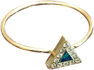 Jennifer Meyer Jewelry Jennifer Meyer 18k gold triangle opal with diamonds ring