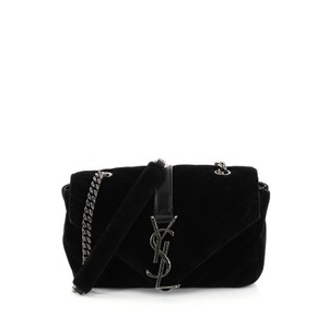 Saint Laurent Classic Chevron Velvet Cross Body Bag