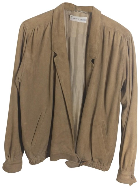 STRENESSE Tan Suede Jacket Size 10 (M) STRENESSE Tan Suede Jacket Size 10 (M) Image 1