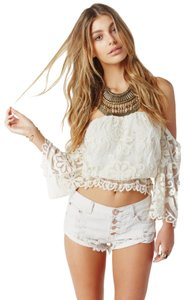 Jen's Pirate Booty Nasty Gal Bohemian Crop Boho Off The Shoulder Top Ivory