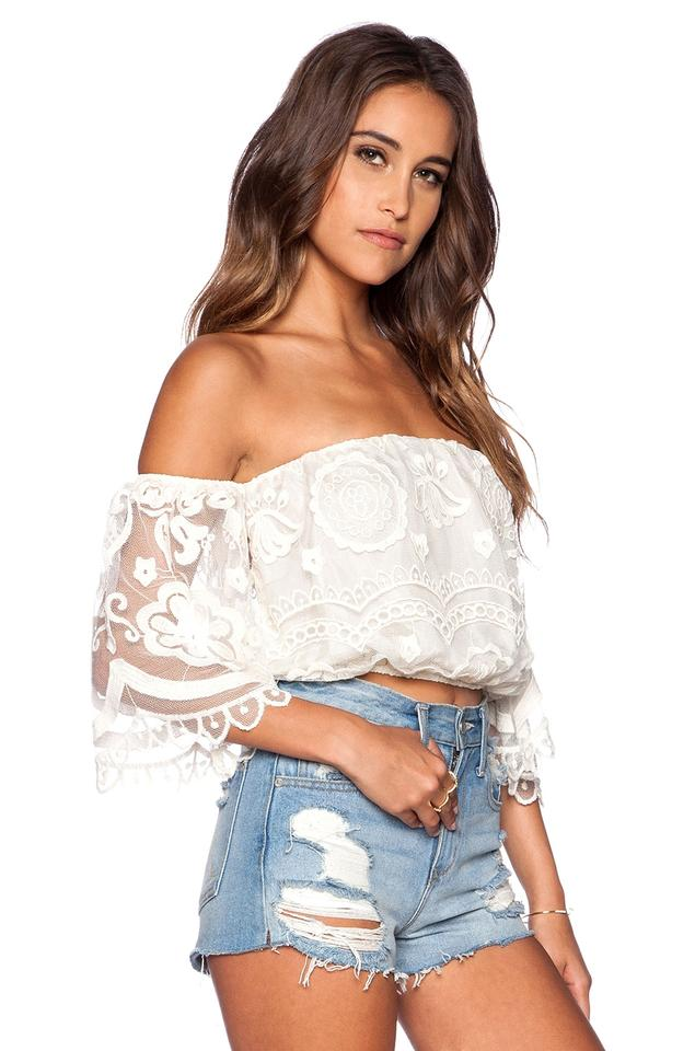 f7e98c0b28e Jen's Pirate Booty Nasty Gal Bohemian Crop Boho Off The Shoulder Top Ivory  Image 4. 12345
