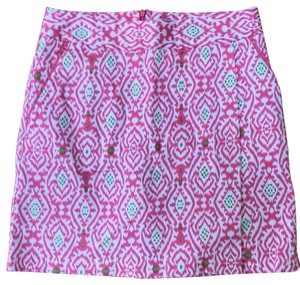 Peter Millar Skort pink with green and white