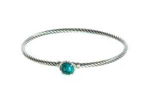 David Yurman Chatelaine Bracelet with Turquoise 3mm Size Medium $325 NWOT