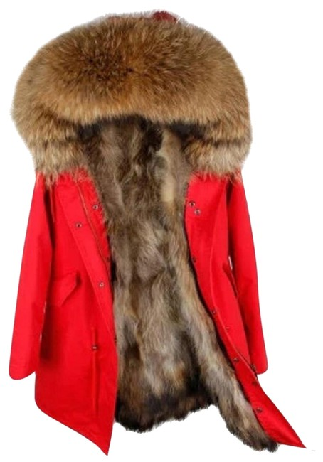 Item - Red Summer Sale: Parka with Real Lining Coat Size 8 (M)