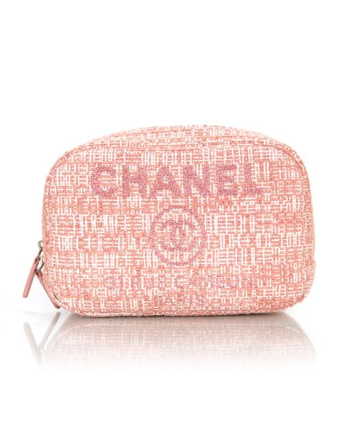 Item - Deauville Cruise Zip O-case Pouch with Tag Car Pink Canvas Weekend/Travel Bag