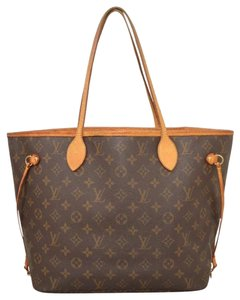 Louis Vuitton Monogram Luxury Leather European Gold Hardware Tote in brown