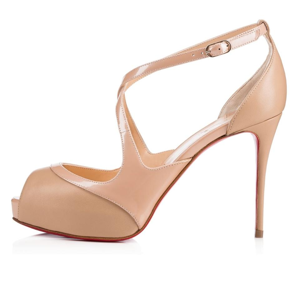 Christian Louboutin In Nude Mirabella Strappy Patent In Louboutin Sandals 9d822c