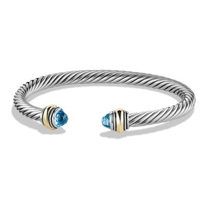 David Yurman David Yurman Cable Classics Bracelet Blue Topaz And 14K Yellow Gold