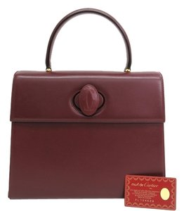 Cartier Hand Must Leather Stock03240 Tote in Wine Red
