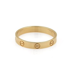 Cartier CARTIER Mini Love 18k Yellow Gold Band 3.5mm