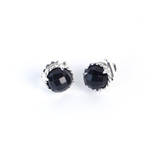 David Yurman Chatelaine Earrings with Black Onyx 10mm $395 NWOT