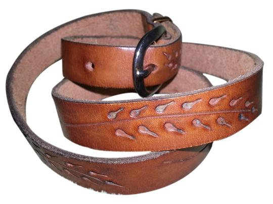 Preload https://item3.tradesy.com/images/brown-1987-hand-tooled-leather-with-mixed-metals-belt-2288997-0-0.jpg?width=440&height=440