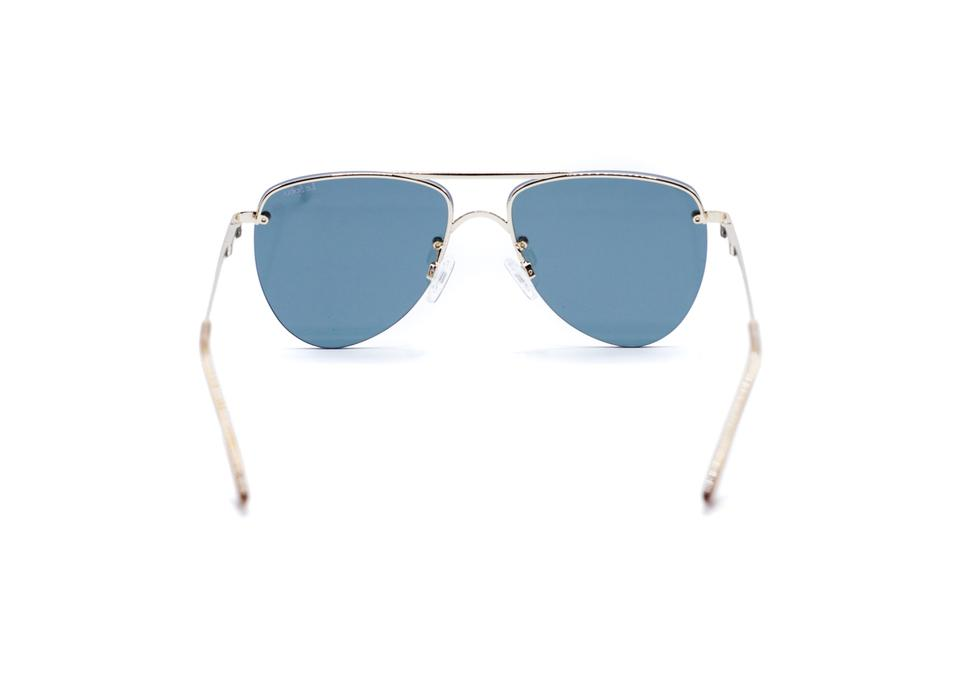 6fec65f0ee Le Specs Le Specs The Prince Matte Gold Mirrored Aviator 57mm Sunglasses  Image 3. 1234