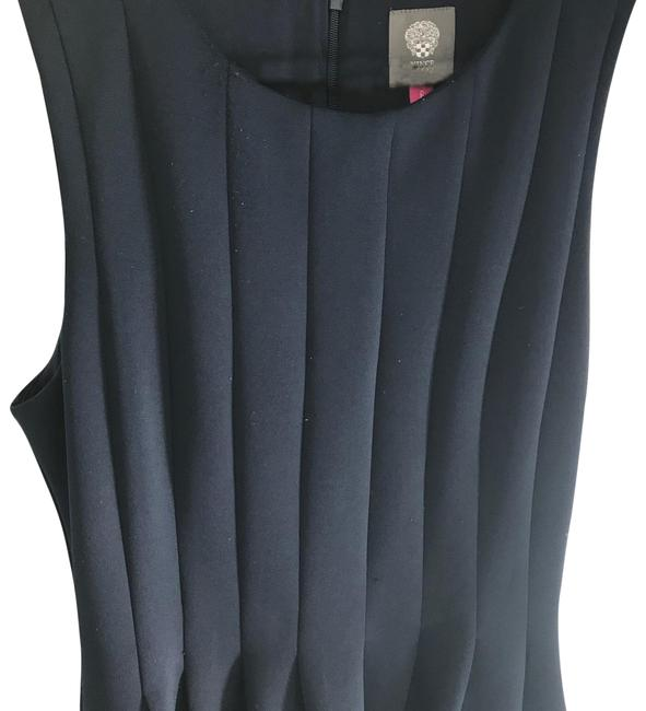 Item - Navy Fit-and-flare Mid-length Work/Office Dress Size 6 (S)