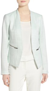 Halogen Tweed Blue, White Blazer