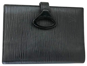 Louis Vuitton LOUIS VUITTON Black Epi Leather Agenda PM