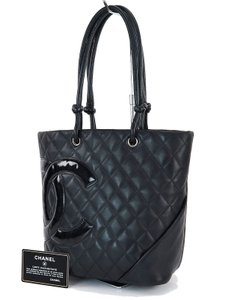 Chanel Sport Luxury European Italy Leather Tote in black