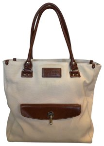 Kate Spade Canvas Laptop Size Work Tote in Beige & brown