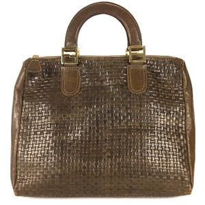 Fendi Classic Classy Chic Travel Vintage Tote in Brown