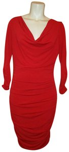 Boston Proper Knit 3/4sleeve Shirred Dress